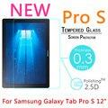 """Pro s 9 h 0.3mm templado vidrio templado para el samsung galaxy tab pro s 12 """"Tablet PC Protector de Pantalla de Cine A Prueba de Explosiones Cubierta"""