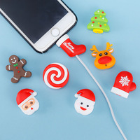 2018 New arrival Cable bite Christmas Cute cable protector mini Cable Wire protection for iphone Cartoon Charging protection Cable Winder