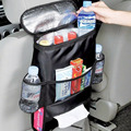 Refrigerador del coche Silla Que Acampa Del Recorrido Bolso Organizador Ligeros Aislados Bolsa De Refrigeración Enfriador de Bebidas Titular Multi-Bolsillo Contenedor