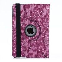 Para el ipad 2/3/4 Caso de Uva de La Vendimia Patrón de 360 Grados Que Giran el Soporte PU cuero de LA PC de Nuevo Caso de La Cubierta Elegante para funda iPad 2/3/4