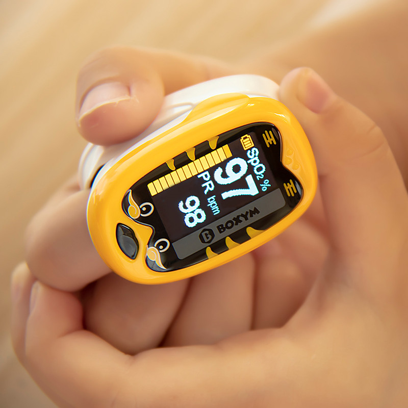 BOXYM Baby Finger Pulse Oximeter Pediatric Oximetro De Dedo SpO2 PR OLED Rechargeable Neonatal Children Kids Pulsioximetro CE(China)