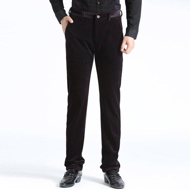 Больше Среднего Возраста мужская Мода Дизайн Отдых Плюс Размер Брюки Прямые Вельветовые Брюки Мужчины Сжатия Брюки Мужчины
