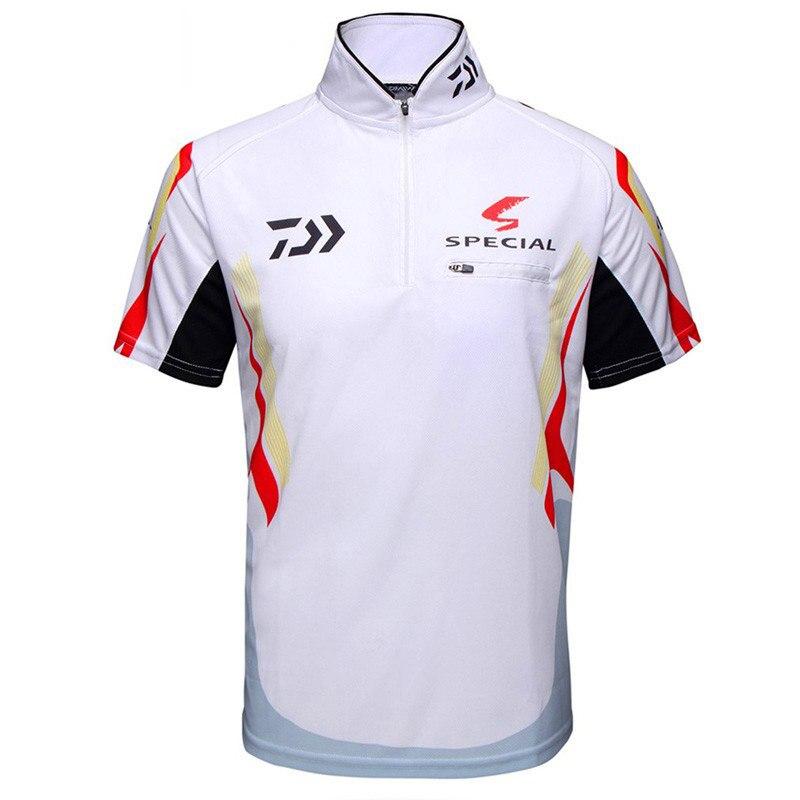 2018 Summer New Brand Fishing shirt Daiwa Sunscreen Fishing Short Sleeves Shirt Breathable Quick dry Anti UV Fishing Clothing in Fishing Clothings from Sports Entertainment