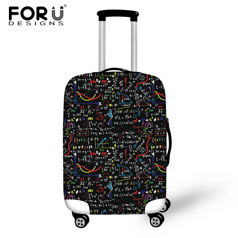 FORUDESIGNS Math Formula Print 18-30inch Case Cover Travel Suitcase Protective Cover Bags Luggage Protect Covers For Suitcase