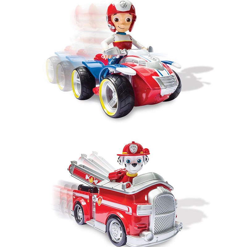 Image 5 - Genuine Spin Master Paw Patrol RESCUE RACERS VEHICLE Skye's High Flyin Copter Ryder's Rescue ATV Vehicle and Figure children toy-in Action & Toy Figures from Toys & Hobbies