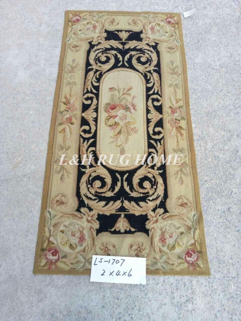 Livraison gratuite 2'x4 'tapis à l'aiguille en laine 100% tapis faits main en laine de nouvelle-zélande