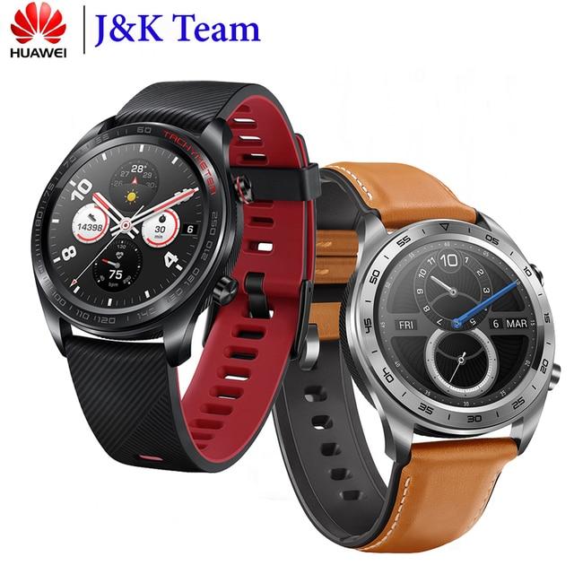 Huawei Honor שעון קסם שעון חכם NFC GPS 5ATM עמיד למים לב קצב גשש שינה Tracker עבודה 7 ימים הודעה תזכורת