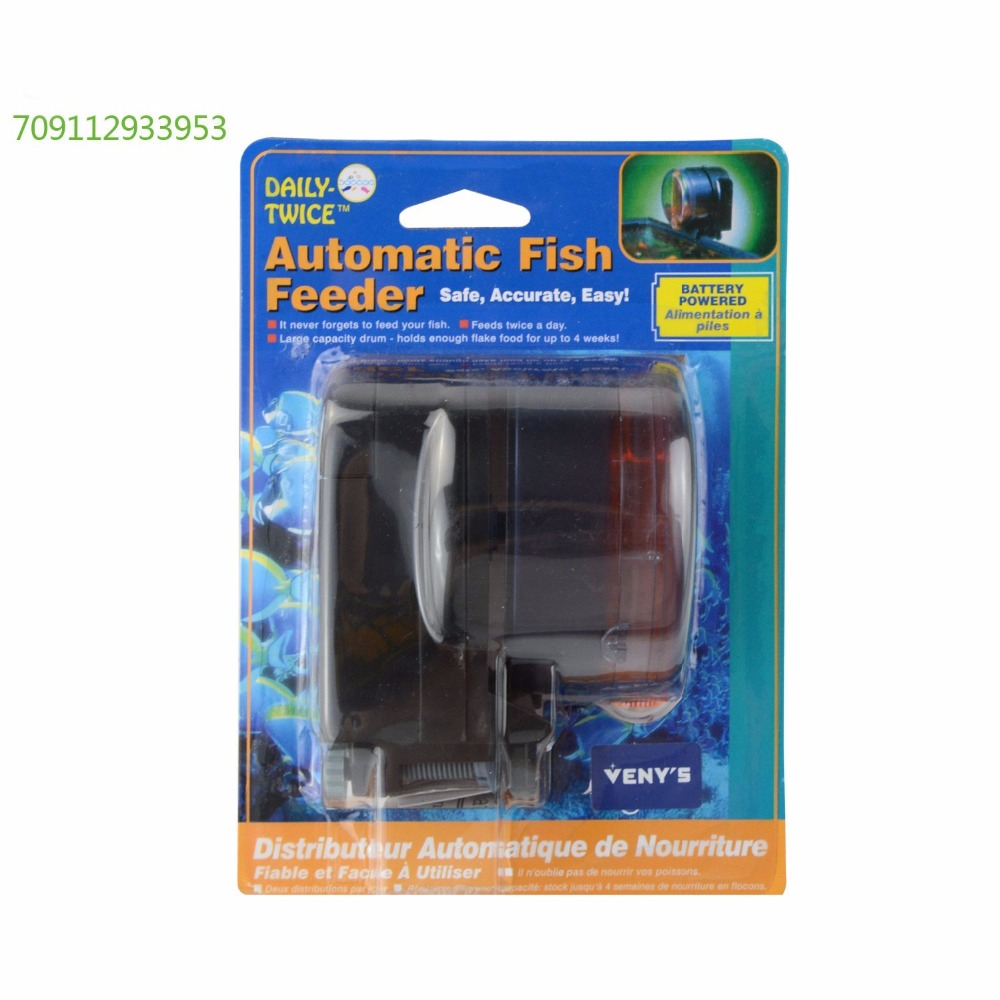 Saim battery operated automatic fish feeder for tank pond for Fish based dog food