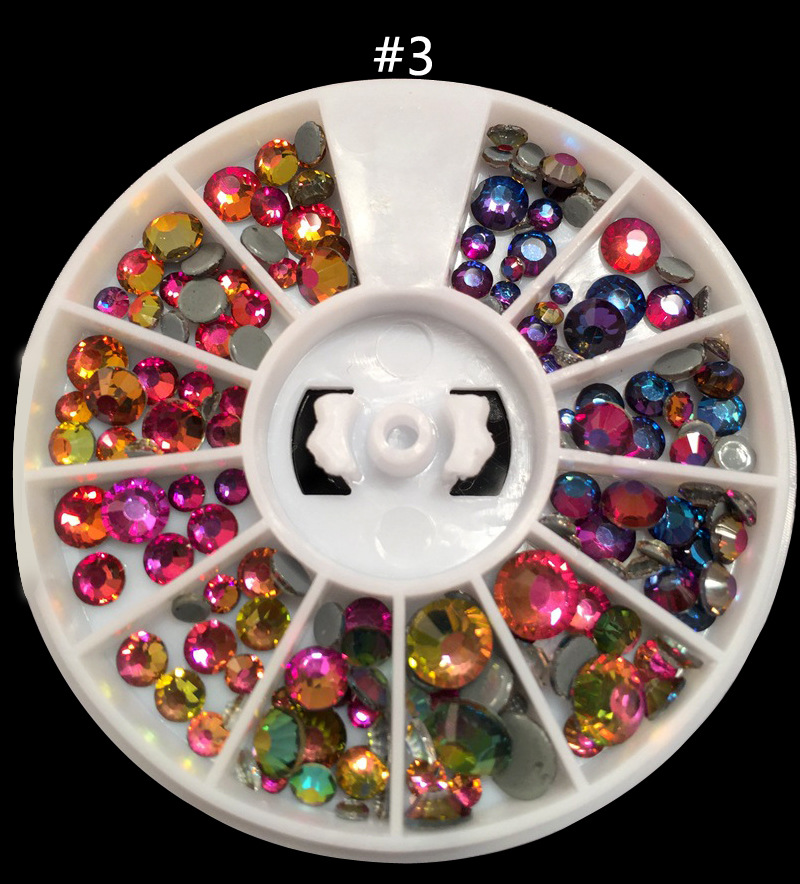 Hot sell 2017 Nails Caviar Wheel Charms 3D jewelry Nail Art Decorations supplies Crystal Glitter Rhinestone 3D Nail Art charms 3d nail art decorations stud glitter gold silver caviar micro beads diy jewelry design supplies nails accessories