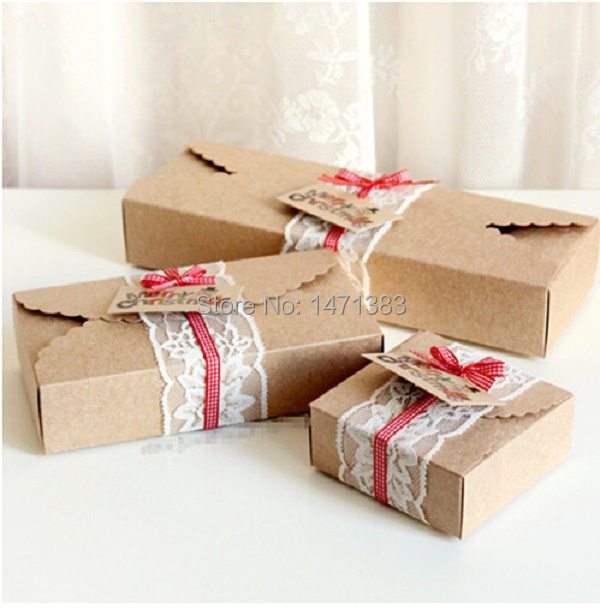 Mini brown paper bags favors