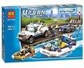 409 unids Policía Patrulla de Policía de La Ciudad Establece Ladrillos de Construcción, Bloques de Juguete de Regalo Compatible Con Legoes Ciudad