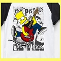 punk is not dead bart guitar sex pistols ramones clash green day cartoon fashion t shirt