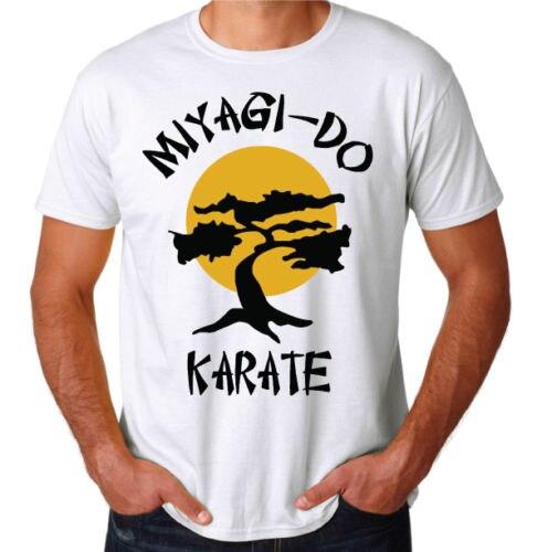 Каратэ-Пацан Мияги сделать 80-х вечерние боевик кунг-фу борьба gymer белая футболка Для мужчин футболка Популярные Аниме футболки