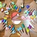 Смешно 40 шт./компл. Дети Любимые Mewtwo Snorlax Пикачу Pokeball Палец Кукольный Игрушки