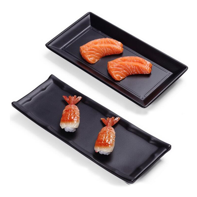 A5 Melamine Dinner Dish Rectangle Sushi Plate Food Container Board Sashimi Serving Tray Platter Restaurant Tableware ZA3488