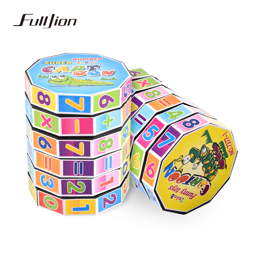 Fulljion Learning Education Math Toys Montessori Teaching Resources Puzzle Cube For Kids Number Training Aids Fun Calculate Game kids wooden math toys children math calculate game toys child learning educational toys baby montessori materials calculate toys