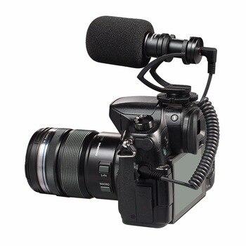 COMICA Metal Mini Cardioid Directional Shotgun Video Microphone with Shock-Mount for Smartphone,IPHONE 7 DJI OSMO,GoPro 3 Black
