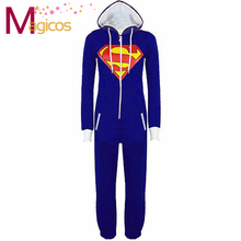 Adults Onesies Pajamas Superman Pijamas Cosplay Party Costume Pyjamas Sleepwear for Men Women