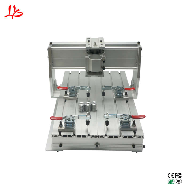 CNC router mini aluminum frame 3040Z ball screw with 4pcs Toggle clamp aluminum lathe body cnc 6040 router 1605 ball screw cnc frame kit diy cnc engraving machine