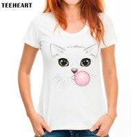 Women Hipster Kawaii T Shirt Summer Style Cartoon Tops Tee Shirts Hand Painted Scat Tops Graphic