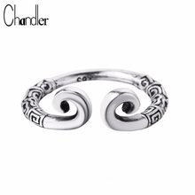 Chandler Silver Plated Thailand Silver Jewelry Retro Tight Hoop Rings Monkey King With Incantation For Woman Carter Finger Bague(China)