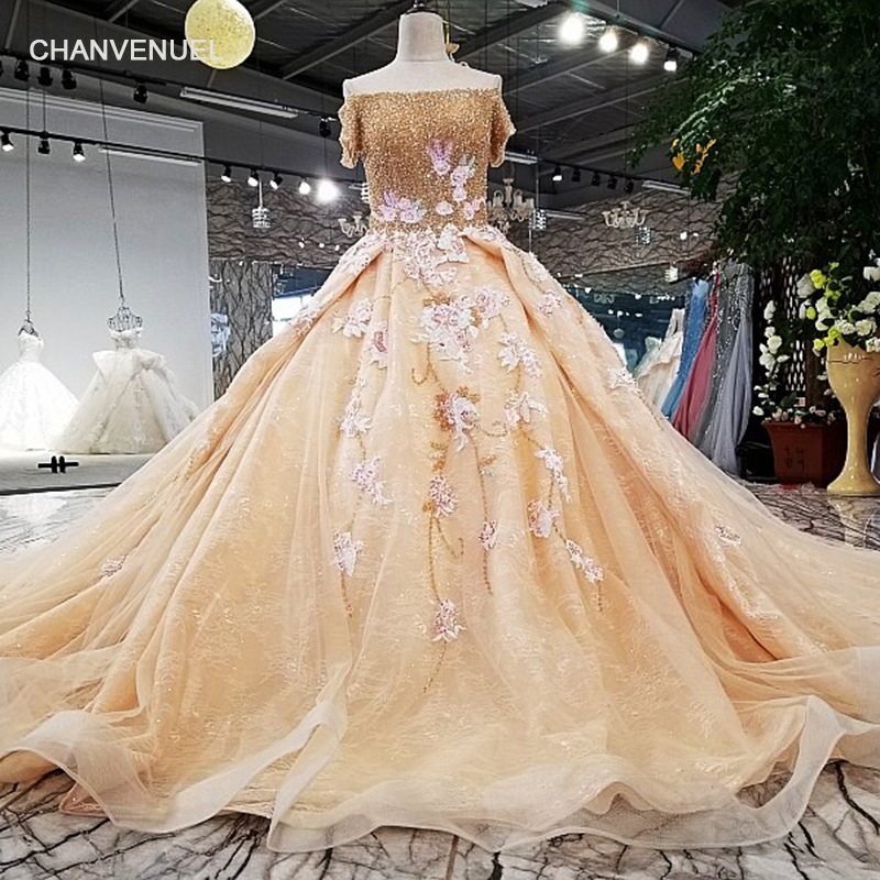 Crystal   evening     dress   off shoulder boat neck champagne formal gown for women lace up back floor length vestido-longo LS32104
