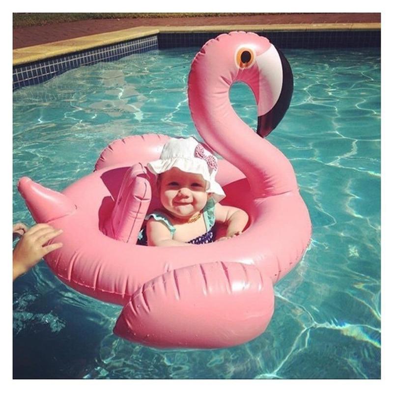 बेबी इन्फ्लेटेबल फ्लेमिंगो पूल फ्लोट पिंक राइड-ऑन स्विमिंग रिंग व्हाइट स्वान फ्लोटिंग वाटर हॉलिडे पार्टी टॉयज फॉर बेबीस पिशिना