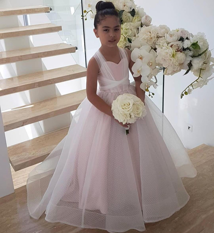 Ball Gown Light Pink Flower Girls Dresses For Weddings Little Kids Pageant Dress Custom Made High Quality Girls Gowns Size 2-16YBall Gown Light Pink Flower Girls Dresses For Weddings Little Kids Pageant Dress Custom Made High Quality Girls Gowns Size 2-16Y
