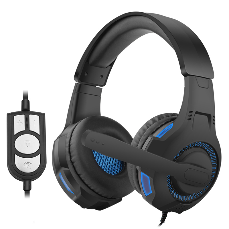 G301 Gaming Headphones Wired Cool LED Light Headset Bass Stereo Hifi Earphones Music with Mic Usb for Pc Game new arrival headphones e sport professional game headset with cool light for pc mac ps4 noisy cancelling with original box