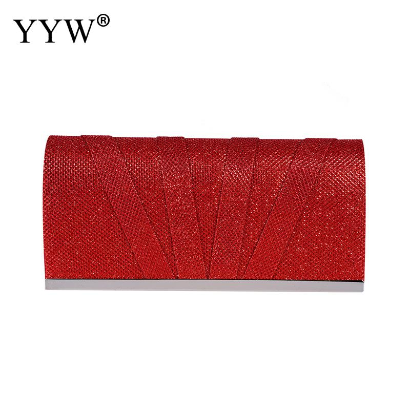 Polyester 2019 Fashion Women Red Clutch Handbag Vintage Wedding Evening Party Long Wallet Purse Clutch Bag Retro Hand Bag Gold