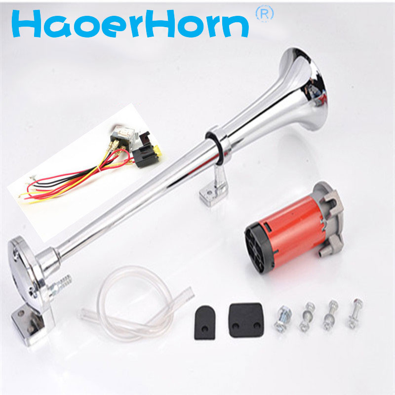 Air Horn Compressor >> Us 24 55 Super Loud 150db 12 24v Single Trumpet Air Horn Compressor Truck Lorry Boat Train Car Motorcycle Air Horn Hr 3301 Gzhaoer In Multi Tone