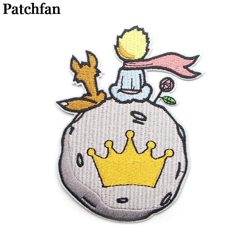 Patchwork petit prince brodé fer sur patchs Badges Patchwork couture Applique pour veste Jeans sac à dos autocollants A1990