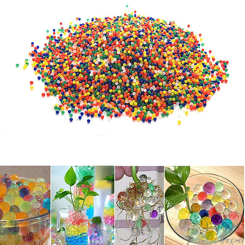 10000 Particles/lot Hydrogel Water Beads Pearl Shaped