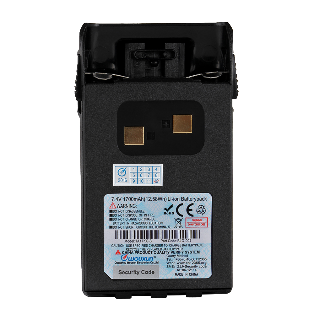 Original Wouxun Battery 1700mAh Li-ion battery for KG-UVD1P KG-UV6D Walkie Talkie KG-833 KG-679P KG-669P two way radio Accessory