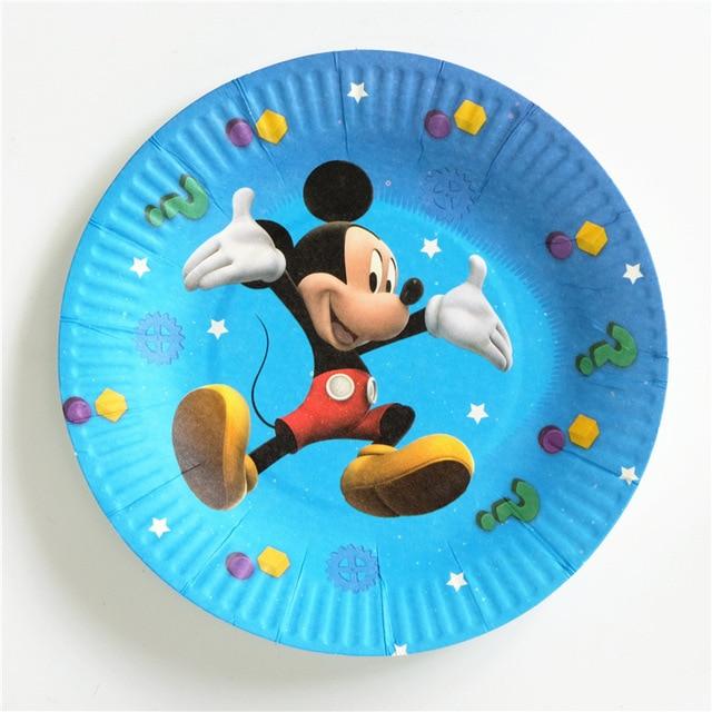 10pcs Mickey Cartoon Theme Paper Plates 7inch Printing Round Plates Kids Favor Boys Birthday Party Supplies & 10pcs Mickey Cartoon Theme Paper Plates 7inch Printing Round Plates ...