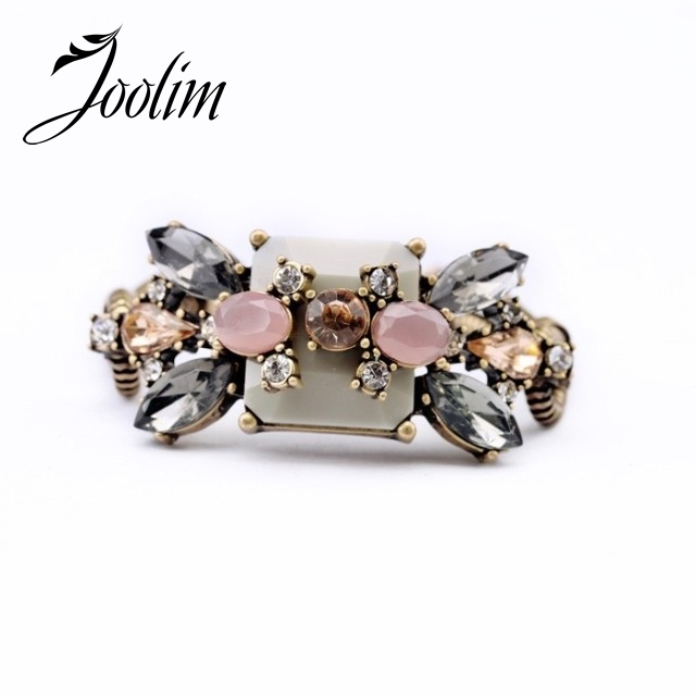 JOOLIM Jewelry Wholesale/ New Vintage Flower Charm Bracelet Design Bracelet Free Shipping Brand Jewelry