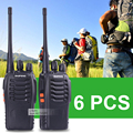 6 pcs baofeng 888 s walkie talkie 5 w uhf 400-470 mhz presunto handheld rádio portátil 888 s walkie talkie rádio 888 s