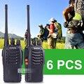 6 unids baofeng 888 s walkie talkie 5 w uhf 400-470 mhz jamón radio portátil de mano 888 s walkie talkie de radio 888 s
