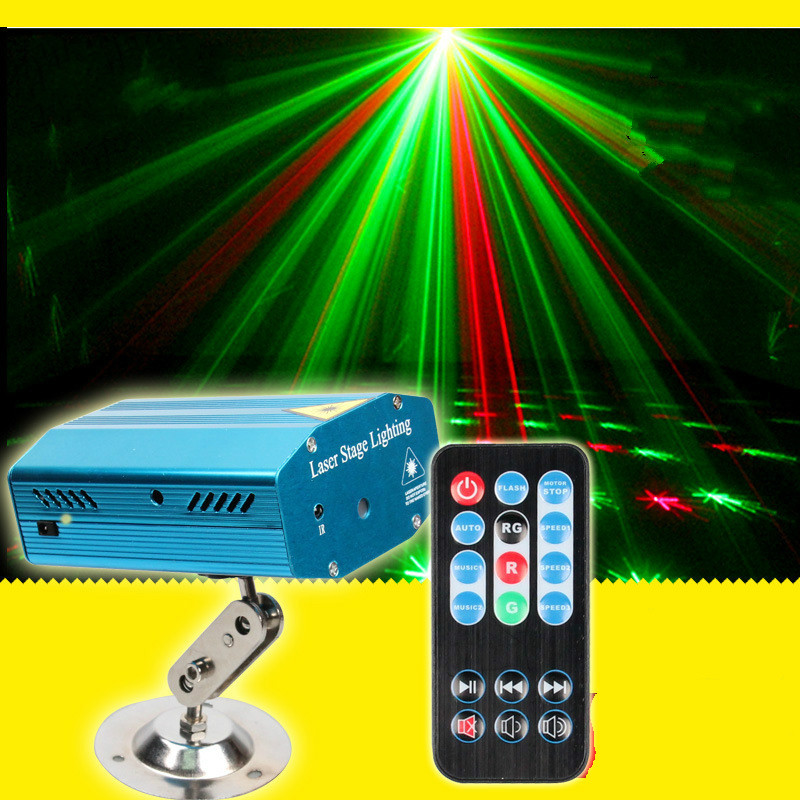 Remote control laser laser acoustic mini laser stage light Meteor shower all over the sky star KTv bars