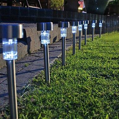 White LED Outdoor Solar Powered Lantern Garden Lawn Landscape Lights Accessaries