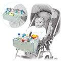 2016 acessórios carrinho de Bebê cesta de suspensão saco de armazenamento organizador carrinho de criança azul saco de fraldas frete grátis