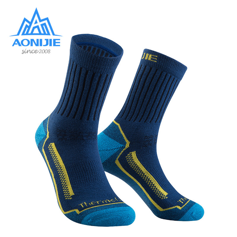 AONIJIE Wool Compression Socks Elastic Sweat Wicking Unisex