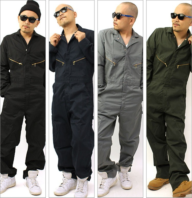 Men hip hop dancing coverall jumpsuit dancer hiphop pants 2016 summer fashion long-sleeved one piece overalls Plus Size S-XXL (5)