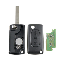 Dzanken 2 Buttons Remote Car Key 433MHz CE0536 for Peugeot 207 307 308 407& Transponder Chip& Uncut Blade y scoo самокат maxi a 20 simple цв red