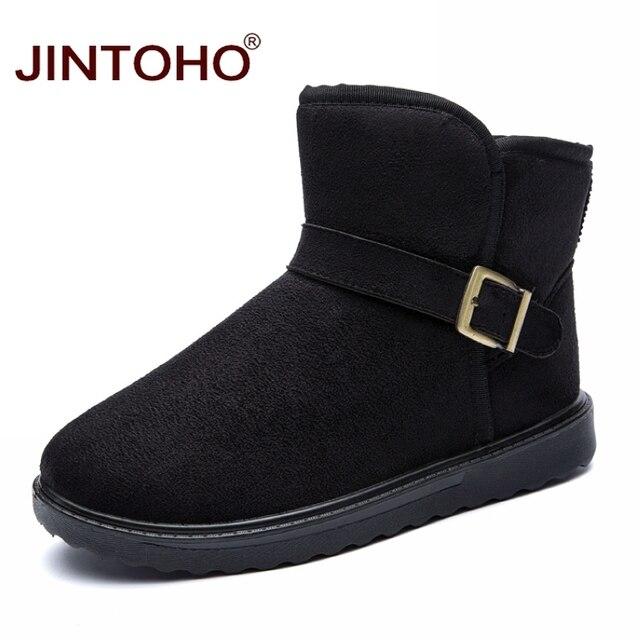 JINTOHO Unisex Kış Kar Boots Marka Ayak Bileği Lastik Çizme Moda Erkekler Kış Ayakkabı Ucuz Erkekler Kış Çizmeler Avustralya Çizmeler