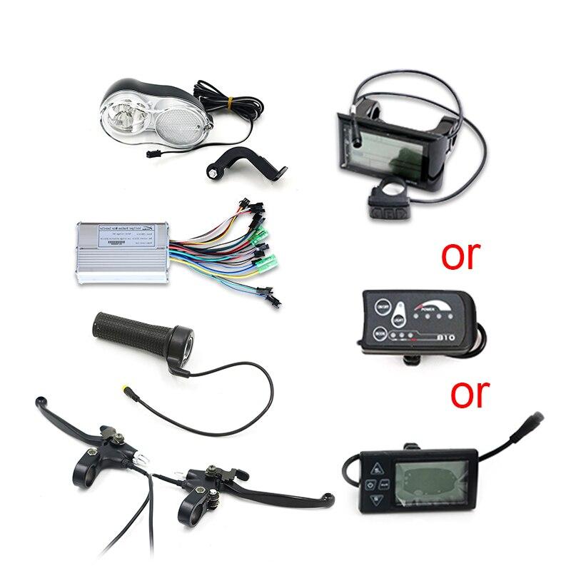 Livraison gratuite Kit d'accessoires Ebike sans batterie et moteur pour affichage de vélo électrique levier de frein de contrôleur d'accélérateur de torsion