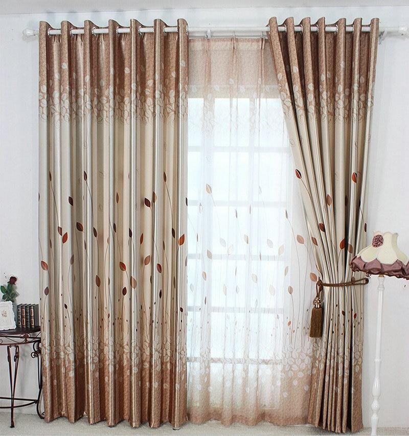 Rustique fen tre rideaux pour salon chambre coucher - Rideaux pour chambre a coucher ...
