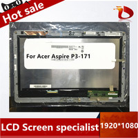 Without frame B116XAT03.1 For Acer Aspire P3-171 LCD Display with Touch Screen Digitizer Sensor Full Assembly
