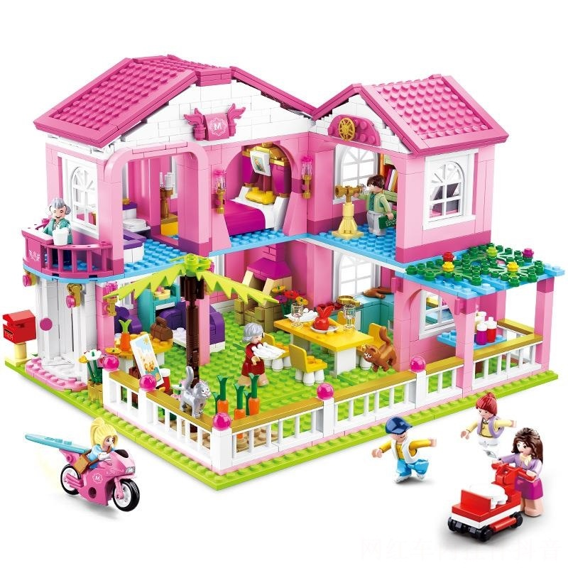 896pcs Children s educational building blocks toy Compatible city Friends Girls Pink Dream Girl Princess Holiday