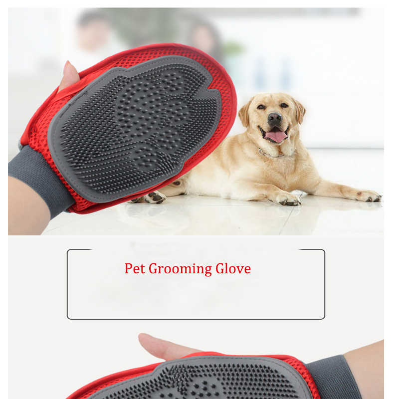 Pet Grooming Glove For Combing Hair Remove Brush Grooming Cleaning Massage Bath Large Dog Brush Comb Pet Cat Dog Accessories